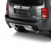 Honda Pilot 2009-2011 - Накладка на задний бампер. Алюминий. фото, цена