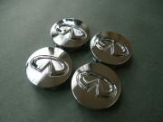 Infiniti M 2006-2010 - Хромированные значки на колесные диски  к-т 4 шт. фото, цена