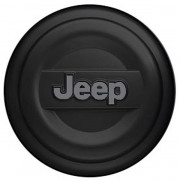 Jeep Wrangler 2007-2010 - (2DR/4DR) - Чехол на запаску. (Пластик, цвет: чёрный). P235/70R16 - P235/65R17 фото, цена