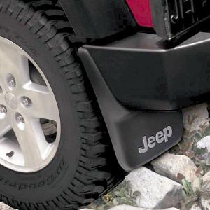 Jeep Wrangler 2007-2012 - (2DR/4DR) - Брызговики задние к-т 2 шт. (Цвет: чёрный). фото, цена