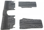 Jeep Wrangler 2007-2013 - (4DR) - Коврики резиновые к-т. (Цвет: тёмно-серый). фото, цена