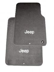 Jeep Wrangler 2007-2010 - (4DR) - Коврики тканевые  к-т. (Цвет: серый). фото, цена