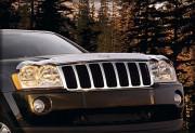 Jeep Grand Cherokee 2005-2010 - Дефлектор капота хромированный. (Chrysler) фото, цена