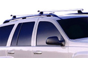 Chrysler Aspen 2007-2009 - Поперечины под рейлинги к-т 2 шт. (Черный, или полированный анодированный алюминий). фото, цена