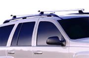 Dodge Durango 2004-2010 - Поперечины под рейлинги к-т 2 шт. (Черный, или полированный анодированный алюминий). фото, цена
