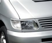 Mercedes-Benz Vito/Viano 1996-2003 - Реснички на фары  к-т 2 шт. фото, цена