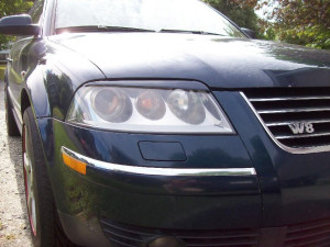 Volkswagen Passat 2001-2005 - Реснички на фары  к-т 2 шт. (Верхние). фото, цена