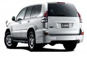 Toyota Land Cruiser Prado 2003-2008 - Накладки заднего бампера (углы). (Под покраску). фото, цена